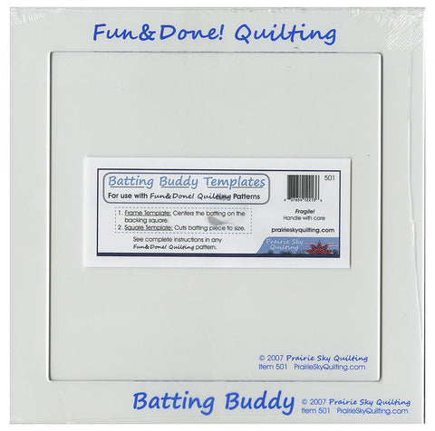 Fun & Done! Quilting Batting Buddy Templates 501, Prairie Sky Quilting