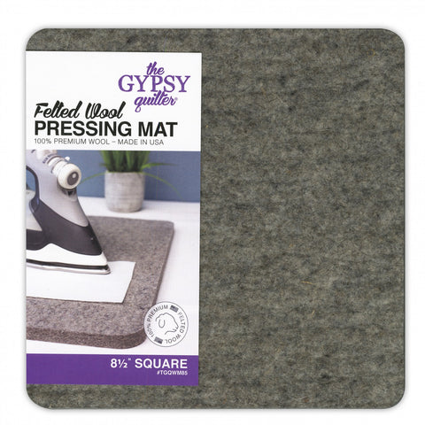 "Felted Wool Pressing Mat 8 1/2"" Square from The Gypsy Quilter #TGQWM85"