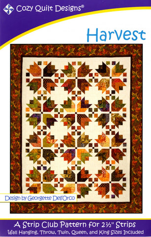 "Harvest, A Strip Pattern for 2 1/2"" Strips by Cozy Quilt Designs CQD01034"