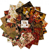 "Harvest Gold, 42 10"" Squares Quilting Fabric, from Kanvas Studio for Benartex HGL10PK"