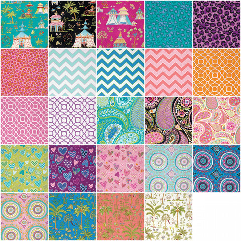 Haute Girls by Dena designs, Charm Squares/Pack,100% Cotton FB6CPDF.42014