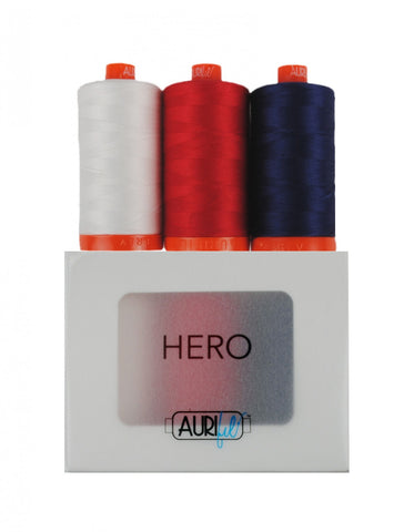 AURIFIL Hero Thread Collection 50wt 3 Large Spools AC50HC3