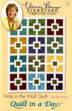 Hole in the Wall Quilt Pattern, Quilt in a Day, Sue Bouchard, 1287 EASY