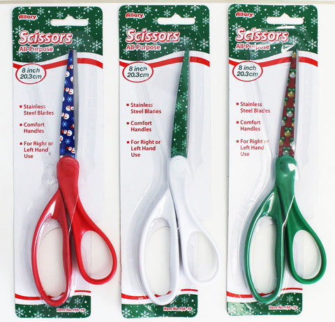 Allary Holiday 8 inch All-Purpose Scissors #198, choice of handle color