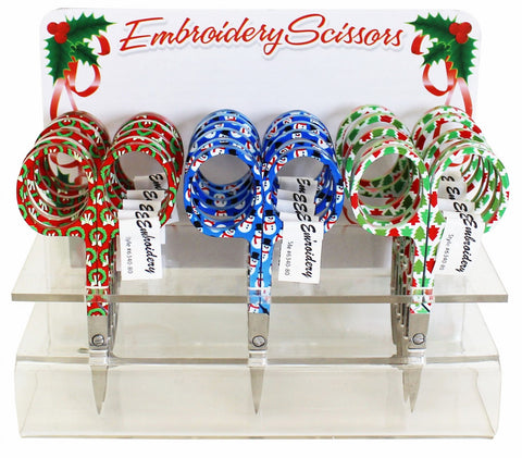 Assorted Holiday Embroidery Scissors #6340-80, Sewing & Quilting Thread, 3.75""