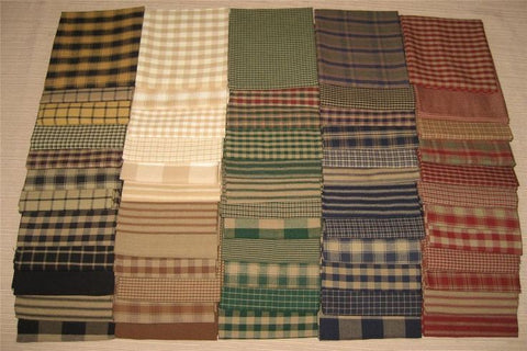 Dunroven House Homespun Fat Quarter Bundle, Twelve (12) Fat Quarters
