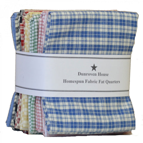 Dunroven House Homespun Fat Quarter Bundle, Twelve (12) Fat Quarters H100-700-CRM