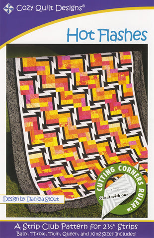 "Hot Flashes quilt pattern for 2 1/2"" Strips from Cozy Quilt Designs # CQD01063"