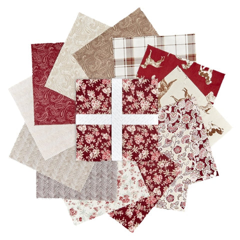"Hunterhill Collection, 42 10"" Squares 100% Cotton Quilting Fabric by Laura Ashley 71180106SQU"