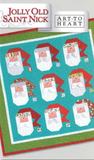 Jolly Old Saint Nick Quilt Pattern, Art to Heart # 164P by Nancy Halvorsen