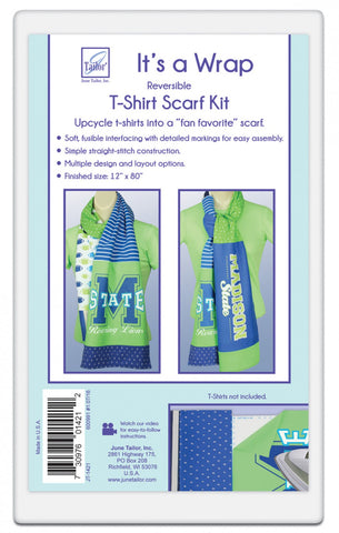 "Reversible T-Shirt Scarf Kit, from June Tailor, 12"" x 80"" JT-1421"