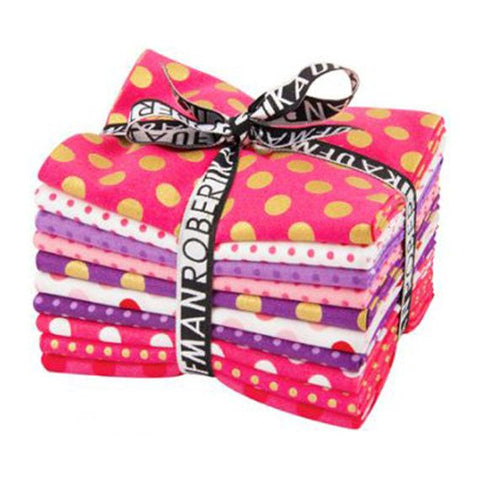 Kaufman Spot On Dress Up, Fat Quarter Bundle,100% Cotton FQ-764-10