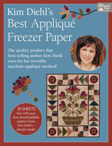 "Kim Diehl's Best Applique Freezer Paper Sheets, 8 1/2 x 11"", 30 Sheets"
