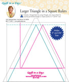 Larger Triangle in a Square Rulers from Quilt in a Day, # 2036QD