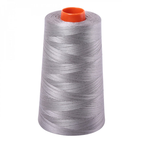 AURIFIL QUILT THREAD CONE - 50 WT - 6452 yards #2620 Stainless Steel