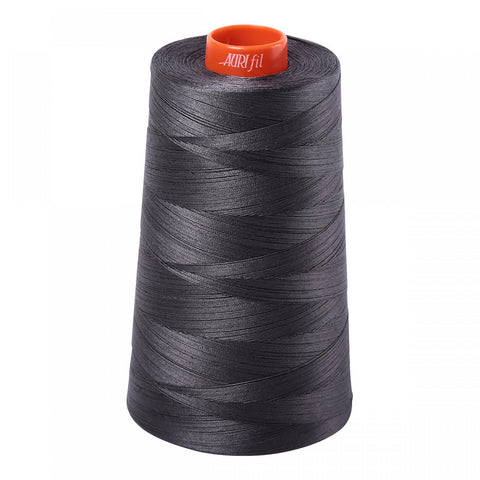 AURIFIL QUILT THREAD CONE - 50 WT - 6452 yards #2630 Dark Pewter