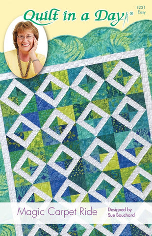 Magic Carpet Ride Quilt Pattern, Quilt in a Day, 1231 EASY