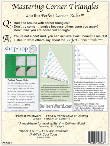 Mastering Corner Triangles: The Perfect Corner Ruler for Quilt Blocks with Triangle Corners