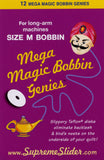 Mega Magic Bobbin Genies, Size M, 12 Teflon Washers per pkg MG12