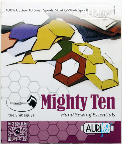 AURIFIL QUILT THREAD- 50 WT - Mighty Ten (10) 220 yard spools, SF50MT10