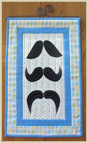 "Mustache! Wall Hanging 12 1/2 X 19"" Quilt Pattern, #ST-1448"