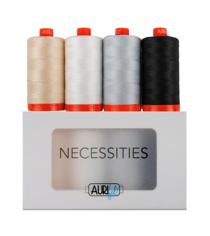 AURIFIL Necessities Thread Collection 50wt 4 Large Spools AC50NC4