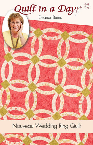 Nouveau Wedding Ring Pattern, Quilt in a Day, Eleanor Burns, 1298 EASY