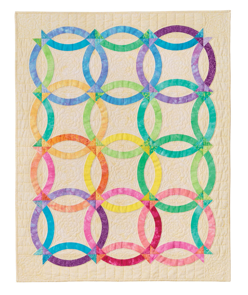 Nouveau Wedding Ring Pattern Quilt In A Day Eleanor Burns