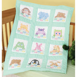 Peek-A-Boo Nursery Quilt Blocks, pkg of 12 Jack Dempsey Embroidery #300-124