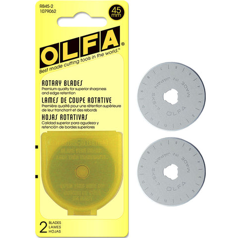 OLFA 45mm Rotary Blades 2 pack, RB45-2  #1079062