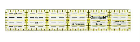"Omnigrid 1 x 6"" Ultimate Accuracy Quilt Ruler, R1"