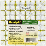 "Omnigrid 4 1/2"" Square Ruler 4.5 inch R45G Quilting, Sewing & Crafts"
