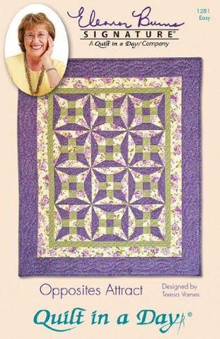 Opposites Attract Pattern Quilt in a Day, Eleanor Burns, Quick & Easy 1256