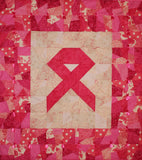 PINK Ribbon Wallhanging Quilt KIT, use your Stash!!  Support Breast Cancer