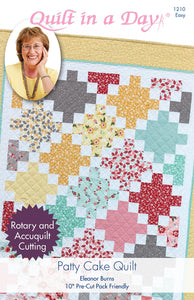 Patty Cake Quilt pattern from Quilt in a Day, Eleanor Burns, Easy 1210