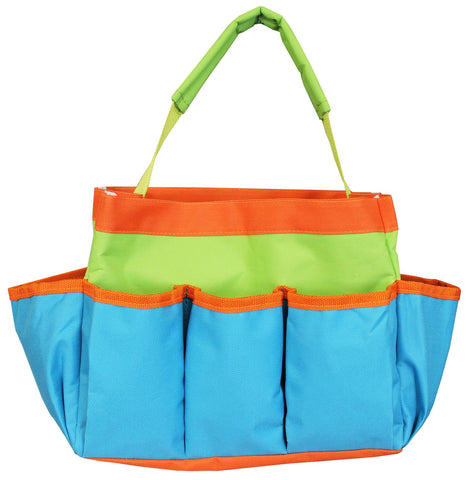 "Project Tote - 10 x 8 x 5"" Blue, Green, and Orange from Allary #1610"