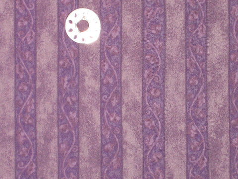 100% Cotton, Benartex Inc, Acorn Hollow Purple Stripe, By the Yard
