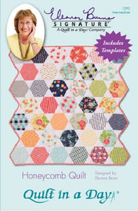 Honeycomb Quilt, Quilt in a Day pattern, Eleanor Burns, w/ Acrylic Template 1292