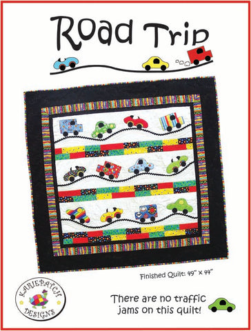 "Road Trip Quilt Pattern, KariePatch Designs 49"" x 44"""