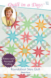 Roundabout Stars Quilt pattern from Quilt in a Day, Eleanor Burns, Easy 1211