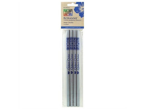 Quilter's Choice Chalk Marking Pencils, 4 Silver, Roxanne