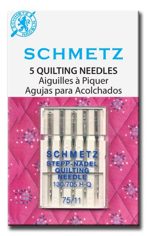 Schmetz Machine Quilting Needles, 130/705 H-Q, 75/11 (Art. 1735) Package of 5