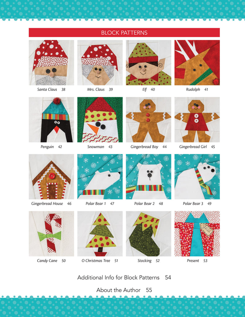 Sew Yourself A Merry Little Christmas 16 Paper Pieced Blocks 8 Holida Sunnysidequilts