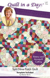 Split Nine Patch pattern, Quilt in a Day, Eleanor Burns, with Template EASY 1207