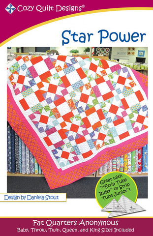 Star Power quilt pattern, Fat Quarters Anonymous from Cozy Quilt Designs # CQD01092