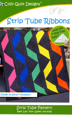 Strip Tube Ribbons, A Strip Tube Pattern from Cozy Quilt Designs