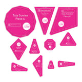 Tula Sunrise 11pc Acrylic Template Set of Quilt Rulers TULASUN-038