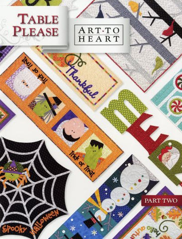 Table Please Part Two, Quilt Book by Art to Heart, #550B