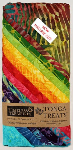 Tonga Treats Zing 12 Fat Quarters 100% Cotton Quilting Fabric Treat-Quarter-Zing