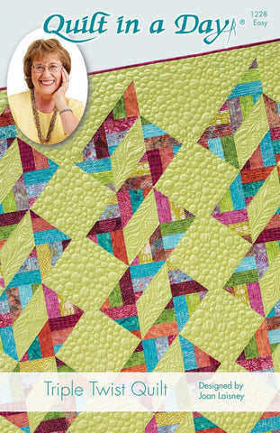 Triple Twist Quilt in a Day pattern, Eleanor Burns & Joan Laisney, Easy 1228